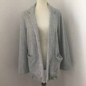 Relaxed, Textured Topshop Open Sweater Blazer